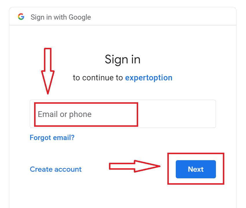 Como fazer login no ExpertOption